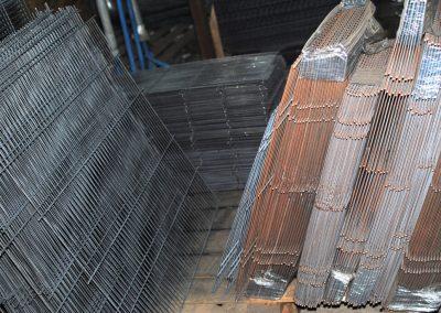 panele, siatki z drutu przed ocynkowaniem