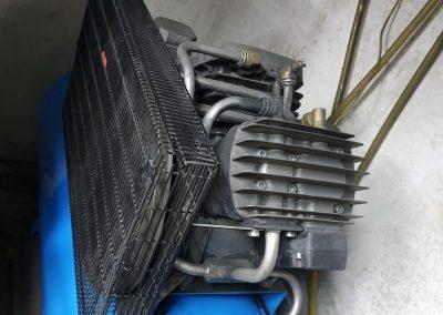 Metalowa osłona pasa transmisyjnego - sprężarka